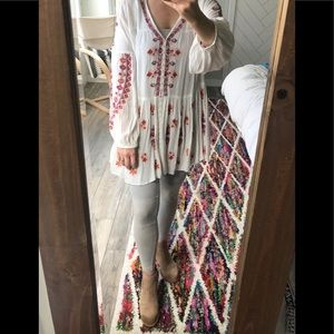 Free People Dresses - Free People Arianna Tunic in ivory
